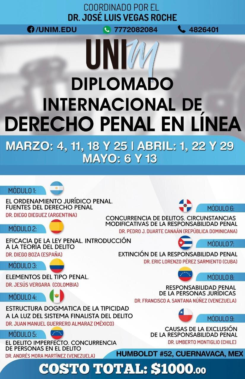 Diplomado Internacional Derecho Penal